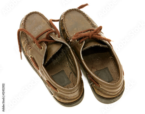 Worn boys shoes
