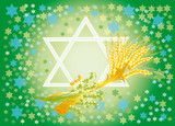 background for congratulation to the holiday of Shavuot poster