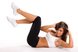 Beautiful young brunette working out - 12452792