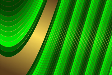 Diagonal golden and green  stripes  background (vector)