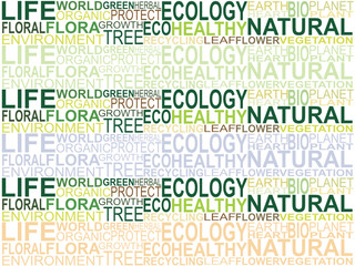 abstract ecology background
