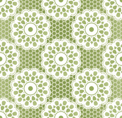 Seamless retro lacing pattern in grassy colors