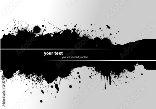 Grunge blot banner. Vector illustration