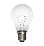 Lightbulb isolated