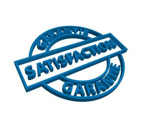 """Tampon """"Satisfaction Garantie"""" (bleu)"""