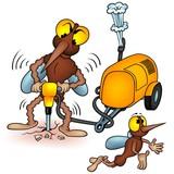 Mosquito 4_5 - cartoon illustration poster