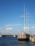 Sailing ship, St. Petersburg, Neva river poster