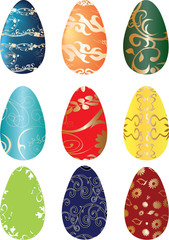 easter decotarive eggs in nine color