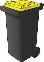 Mülltonne gelb