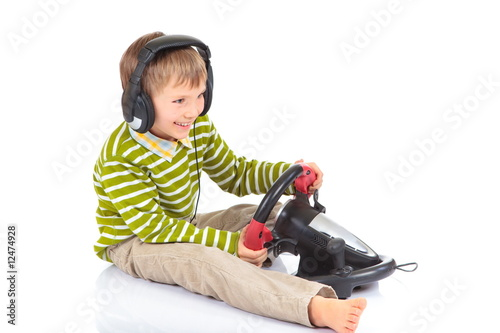 poster of Boy playing video game