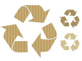 Cardboard recycling symbols