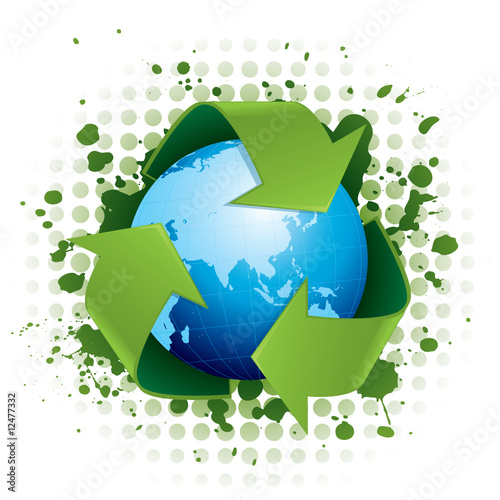 Recycling world concept