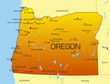 Vector color map of Oregon state. Usa