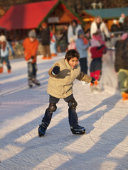 children while ice skating