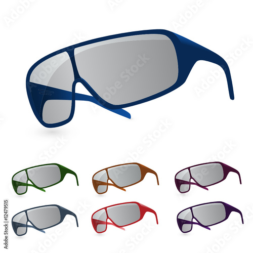 colorful vector sunglasses