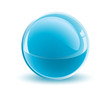 3d vector light blue sphere