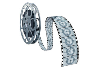 Isolated movie reel