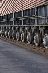 roues du bac du plan incliné de ronquière