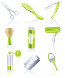 Fototapety Vector hairdresser accessories icon set