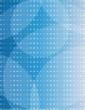 Blue letterhead abstract design blank