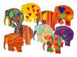 Gemalte Elefanten