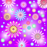 Abstract lilas gentle floral background (vector) poster