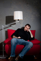 Homme fatigue