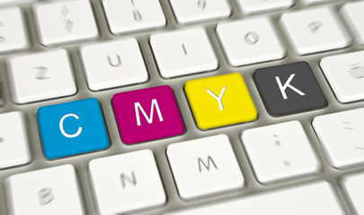Tastatur mit CMYK