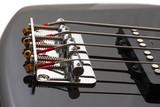 Strings fastening on the guitar treshhold poster