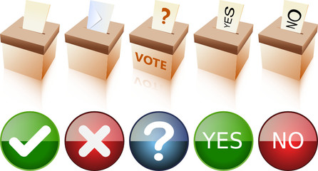 Vote Boxes and Icons