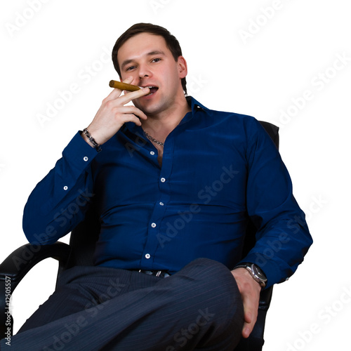 businessman in armchair