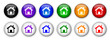 """""""Home"""" buttons (x12) (various colours)"""