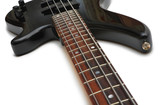 Guitar strings, fingerboard and body poster