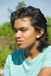 Skeptical teenager portrait