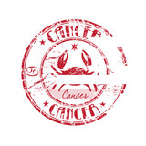 Cancer rubber stamp poster