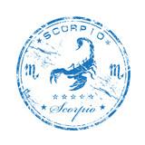 Scorpio rubber stamp poster