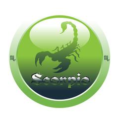 Scorpio glossy button