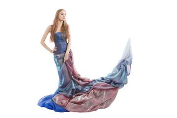 Elegant woman wearing dress