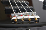 Strings fastening on the guitar treshhold poster