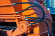canvas print picture - Hydraulic hoses of tractor