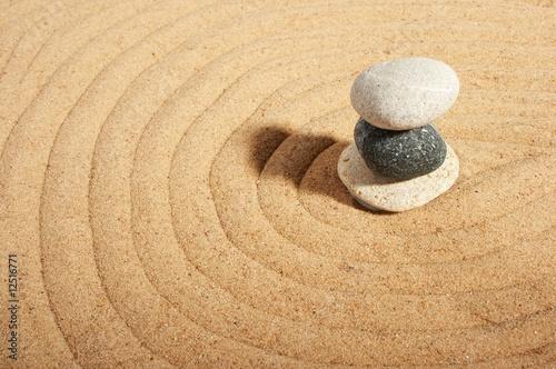 Foto op Canvas Zen Garden of stones, zen-like, tranquil, spa images