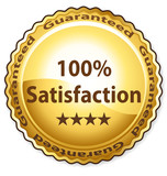 100% Satisfaction poster