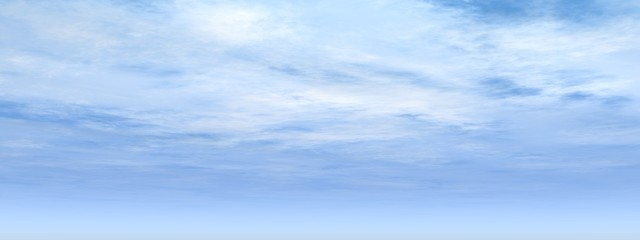 high resolution 3d blue sky banner with white clouds