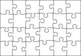 Fototapety transparent puzzle