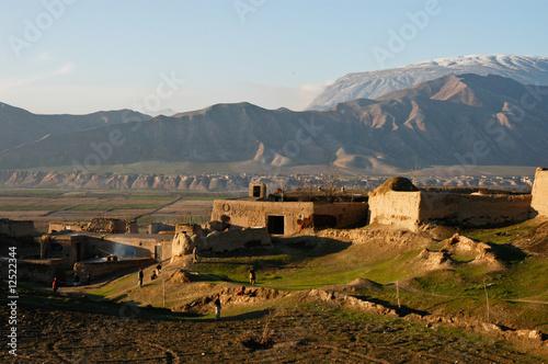 Leinwanddruck Bild Afghanistan Dorf in der Provinz Tahar