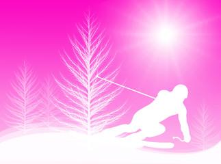 Sciatore nel sole