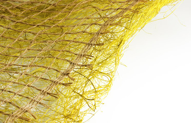 texture from threads of a sackcloth and synthetic fibres 1