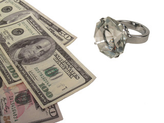 Diamond Ring with Currency