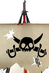 Skull symbol of pirates