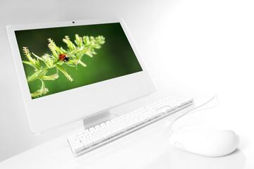 computer bianco